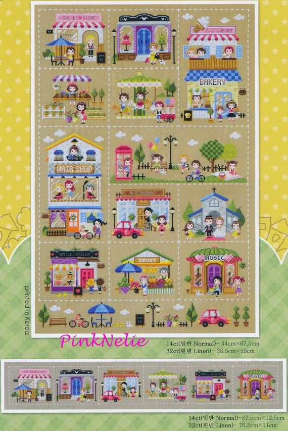 The Mini village - K8 - Counted Cross Stitch Original Design Pattern Chart