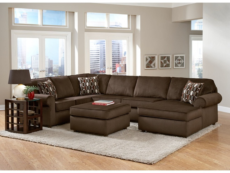 monarch chocolate 3pc sectional value city furniture