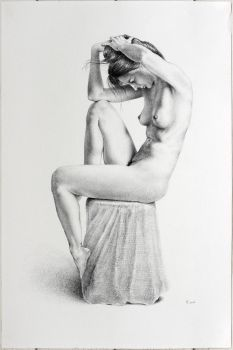 A realistic black chalk drawing on 200gsm Fabriano Accademia. The artwork is not framed....