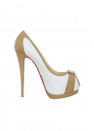 Elegant Stiletto Pumps Peep Toe Bicolor Party / Evening Shoes