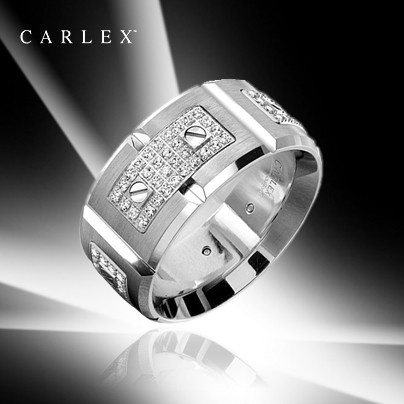 This Stunning Mens Wedding Band From Crown Rings Carlex Collection Is 11mm Wide And Contains 128