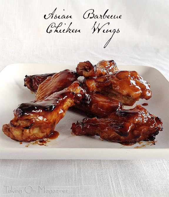 Asian Barbecue Chicken Wings | www.takingonmagazines.com | Sticky, sweet, spicy and delicious, these slow cooked Asian Barbecue Chicken Wings are the highlight of any gathering. Make sure you have lots of napkins!