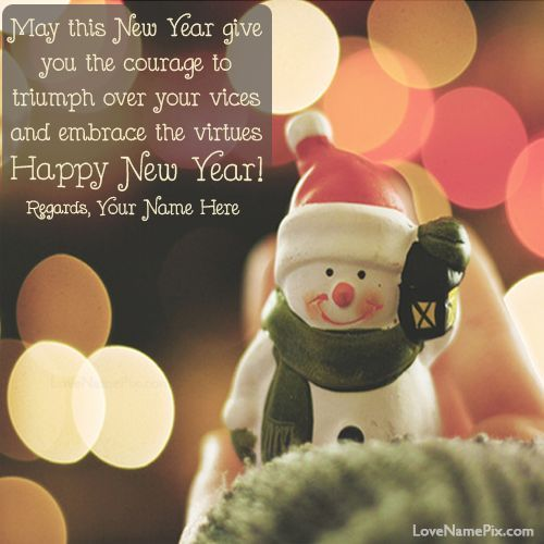 write any name on beautiful new year Greetings Wallpapers and made ...