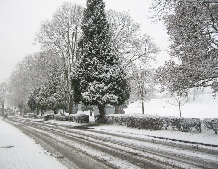 Rare Snow in Stourport-on-Severn