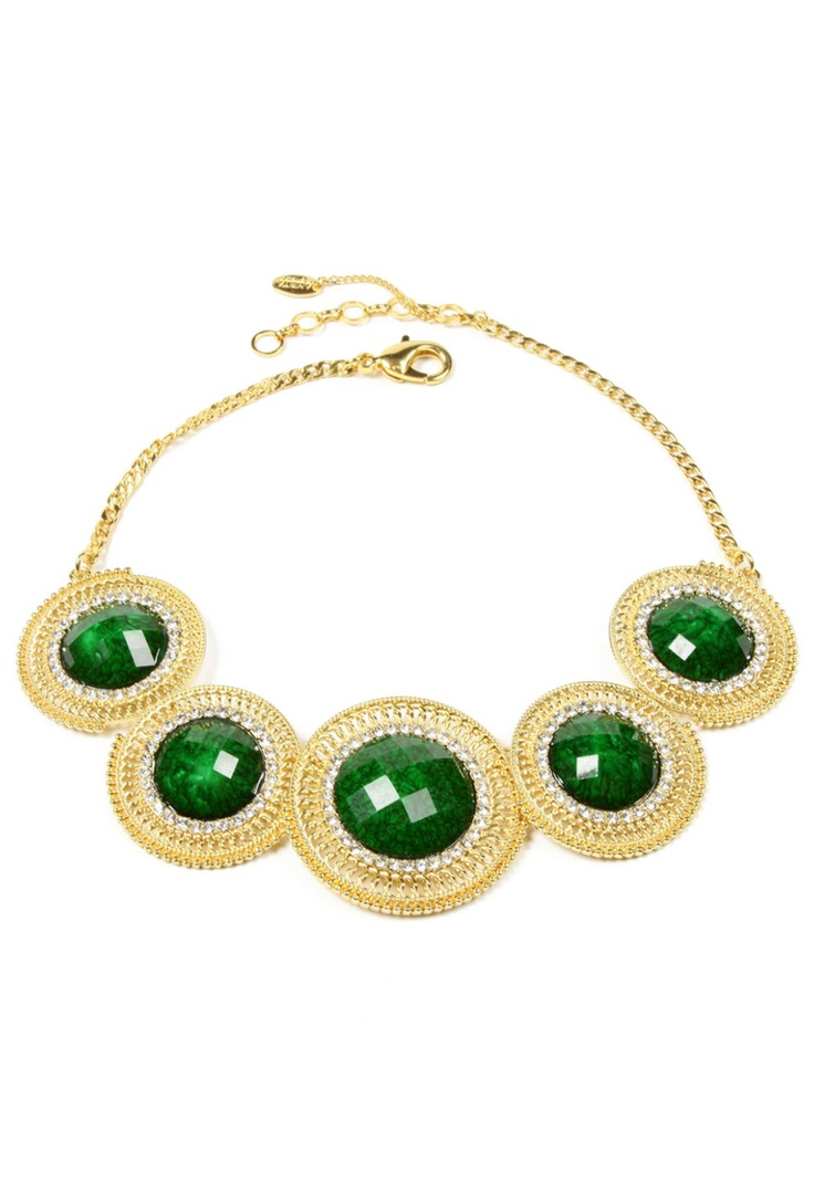 faye necklace in evergreen... I'm green with envy at this beauty! #statement #jewellery