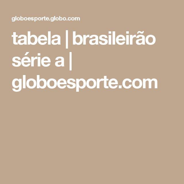 tabela | brasileirão série a | globoesporte.com