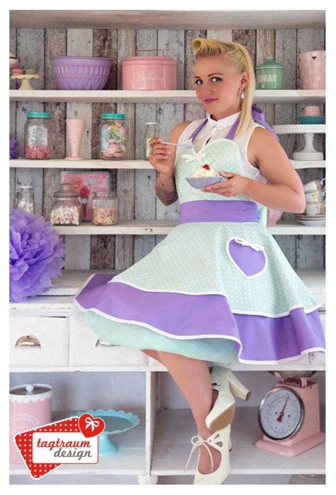 Peggy Sue ♥ Peppermint Blueberry Kiss ♥ Apron  www.tagtraum-design.com
