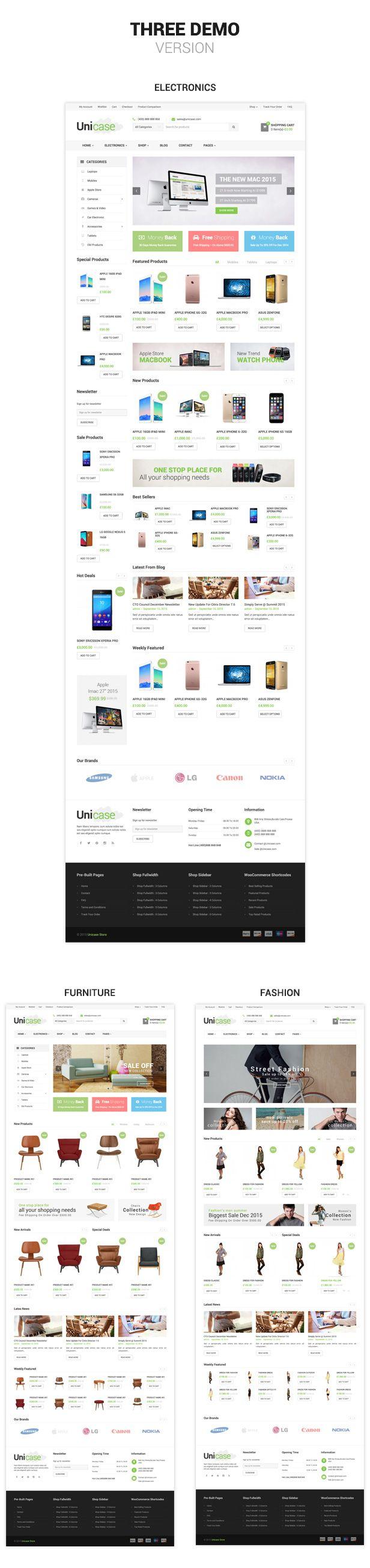 Shopify Theme and App development: Unicase - Electronics Store Shopify Theme