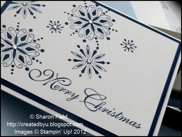 "Serene Snowflakes **** This is actually from SU"" Snow Swirled"" stamp set.(Dec'15) #CAS #TKU"
