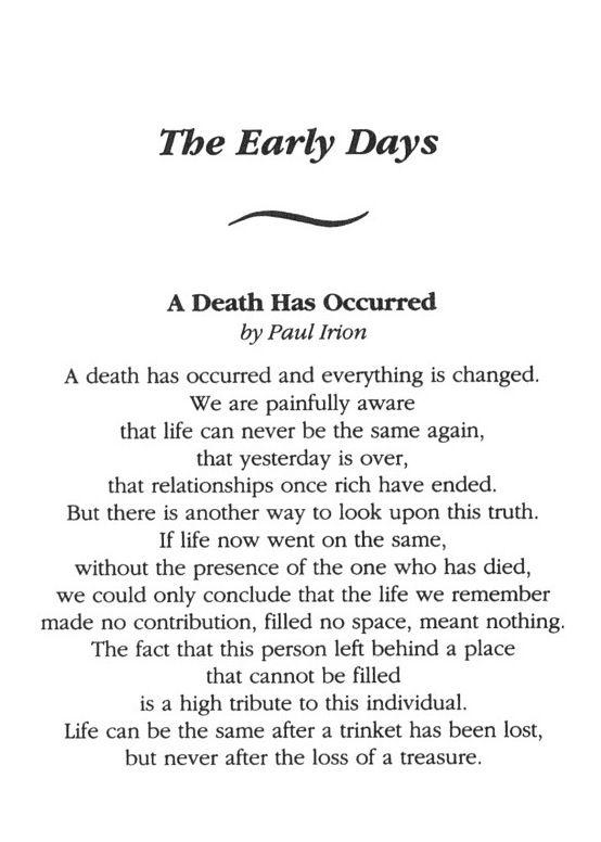 Dear lovely death summary report