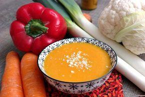Recette de soupe detox au Thermomix. Faites cette entrée en mode étape par étape comme sur votre Thermomix !