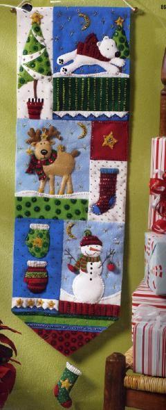 Bucilla Christmas Patchwork Wall Hanging Felt Kit