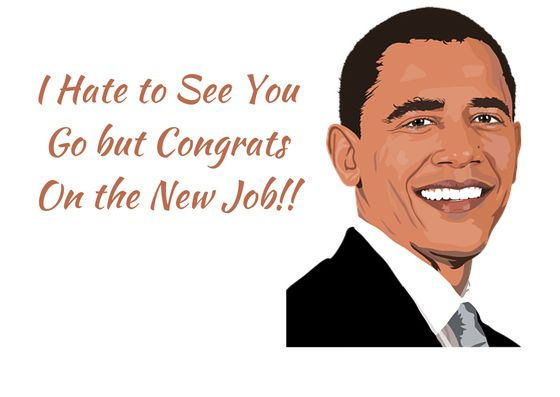 """Congrats on New Job"" Congrats Greeting Card"