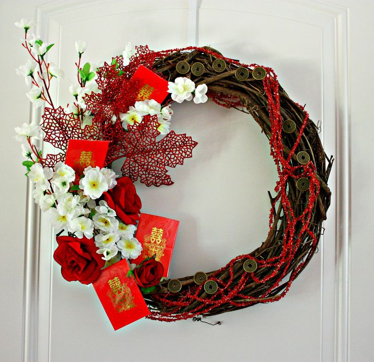 Autumn Harvest Wreath - Celebrate Chinese Moon Festival and Chinese New Year