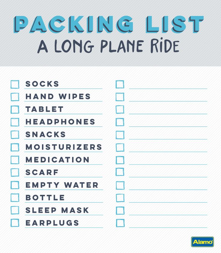 Start your vacation fully rested and ready to go with these packing tips for long plane rides. Be sure to click through to find the printable packing checklist and other tips for your getaway.