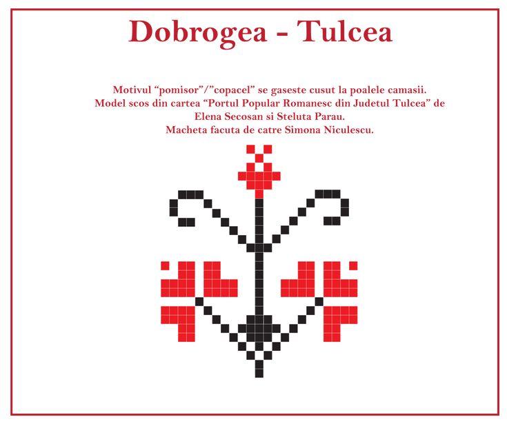 Motiv traditional din Dobrogea, cusatura de la poale. #dobrogea