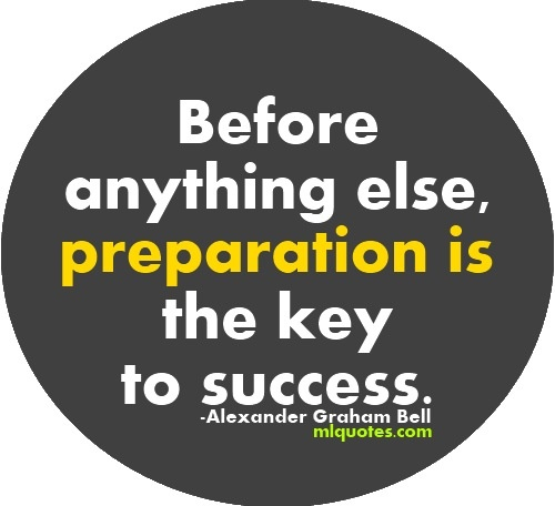 preparation is the key to success essay 1 what matters to student success another issue is that the quality of high school preparation is not keeping pace with the interest in attending college in 2000, for example, 48 percent and 35 percent of high school seniors scored at the.