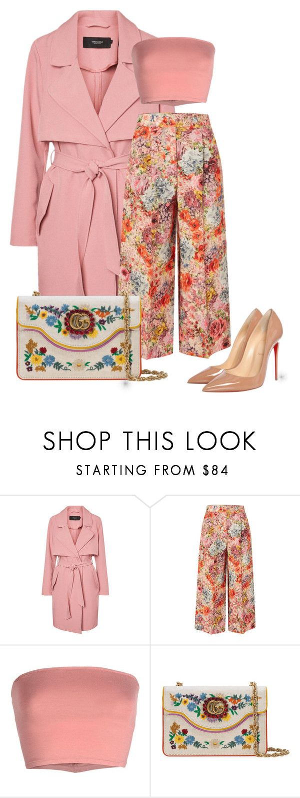"""""""#4"""" by stylewithlammybel-1 ❤ liked on Polyvore featuring Valentino, Annarita N., Gucci and Christian Louboutin"""
