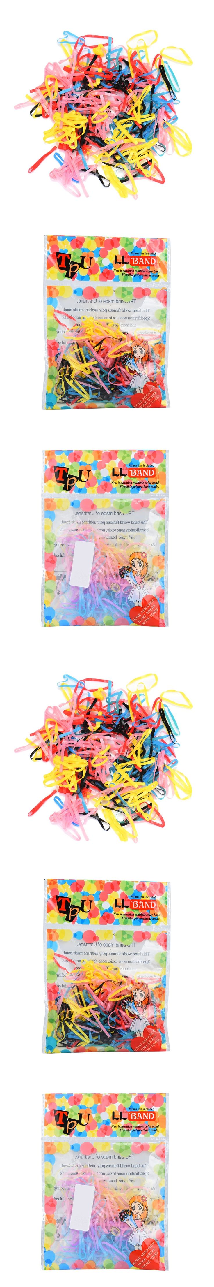 Hair Styling 500pcs/lot Rubber Hairband Rope Ponytail Holder Elastic Hair Band Ties Braids Drop Shipping 70830