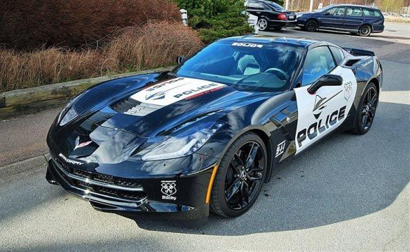 "Corvette Stingray Police Car for Sale in Sweden ""now this looks interesting?"" Why would we need a corvette??!"""