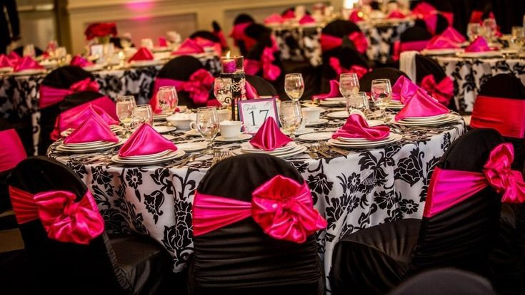 Pink Black And White Wedding Decoration Ideas : The world s catalog of ideas