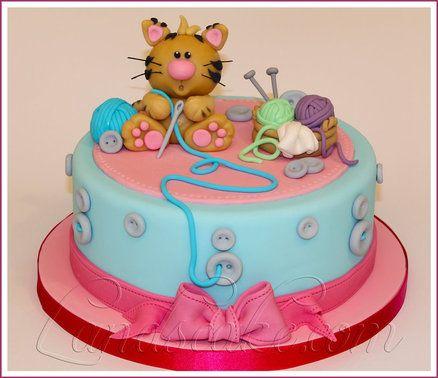 82 best Cat Cake Celebration images on Pinterest Cat cakes Baking