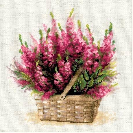 Образ шотландского Kit Хизер цветок вышивки