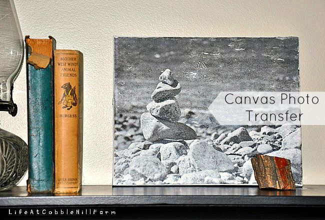 Life At Cobble Hill Farm: How To: Canvas Photo Transfer