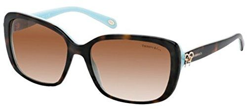TIFFANY Sunglasses TF 4092 81343B Havana/Blue 56MM. Your designer eyewear comes with original case, cloth and manufacturers papers & warranty. Color Code :havana/brown gradient 81343B. Style No: TF4092. Lens Color : 81343B. girls.
