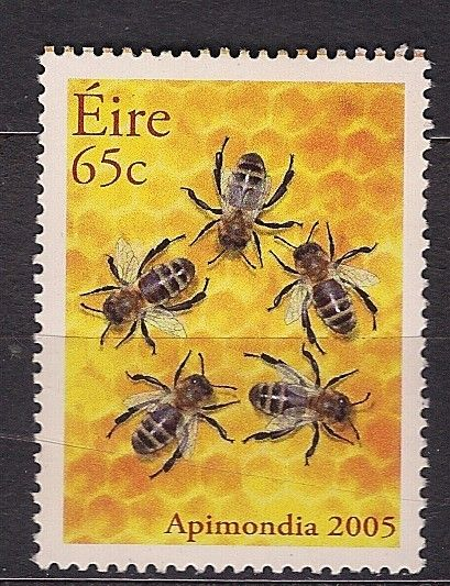 Bees, Ireland postage stamp 2005