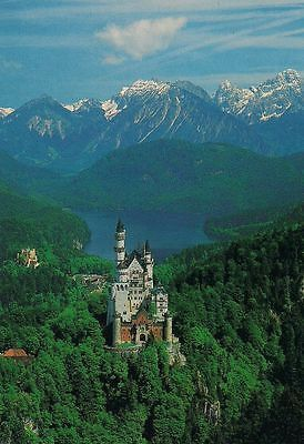 Neuschwanstein Castle Germany Cinderella Disney Art Print Postcard