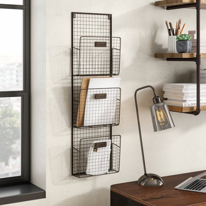 Dighton 3 Tier Wire Wall Unit Set In 2020 Baskets On Wall Wall Unit Wall Racks