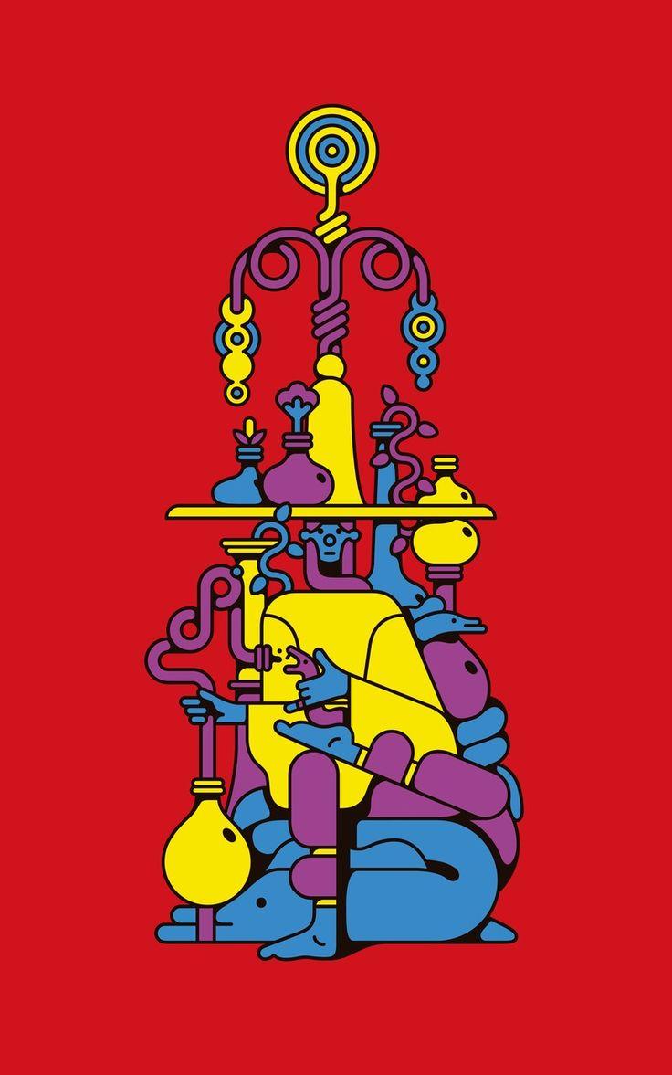 Alchemist   Royalty-free licensable illustration by Edward Carvalho-Monaghan
