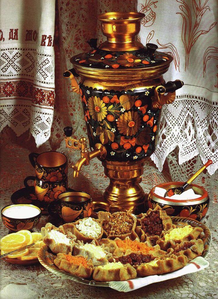 Самовары и русское чаепитие картинки