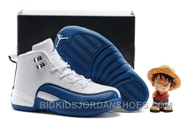 "http://www.bigkidsjordanshoes.com/2017-kids-air-jordan-12-french-blue-basketball-shoes-online.html 2017 KIDS AIR JORDAN 12 ""FRENCH BLUE"" BASKETBALL SHOES DISCOUNT Only $85.00 , Free Shipping!"