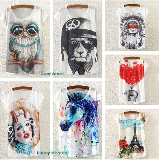 Cheap T-Shirts, Buy Directly from China Suppliers:New 2015 Summer thin Style fashion loose girl women's short sleeve o-neck T-shirt hollow out bananas print women t shirt