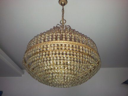 vendo lampadario : Vendo Lampadario circolare con finimenti placcati oro diametro 54 cm ...