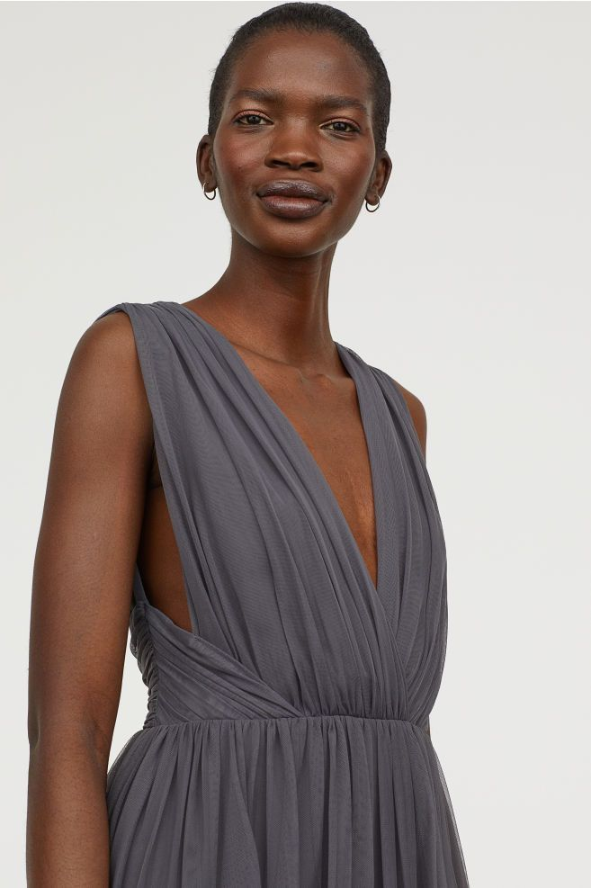 bb3094c715a0 Long Mesh Dress in 2019 | DB | Mesh dress, Dresses, Wrap Dress