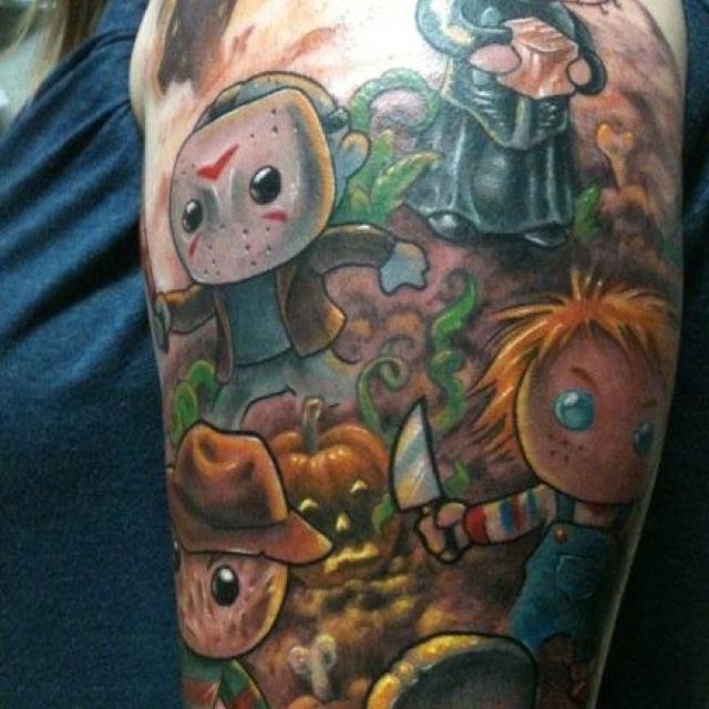 Horror Movie Tattoos Tattoos: 73 Best Horror Tattoos Images On Pinterest