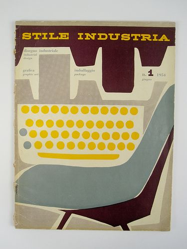Stile Industria #1, 1954. Cover designed by Albe Steiner