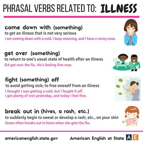 English phrasal verbs related to Illness