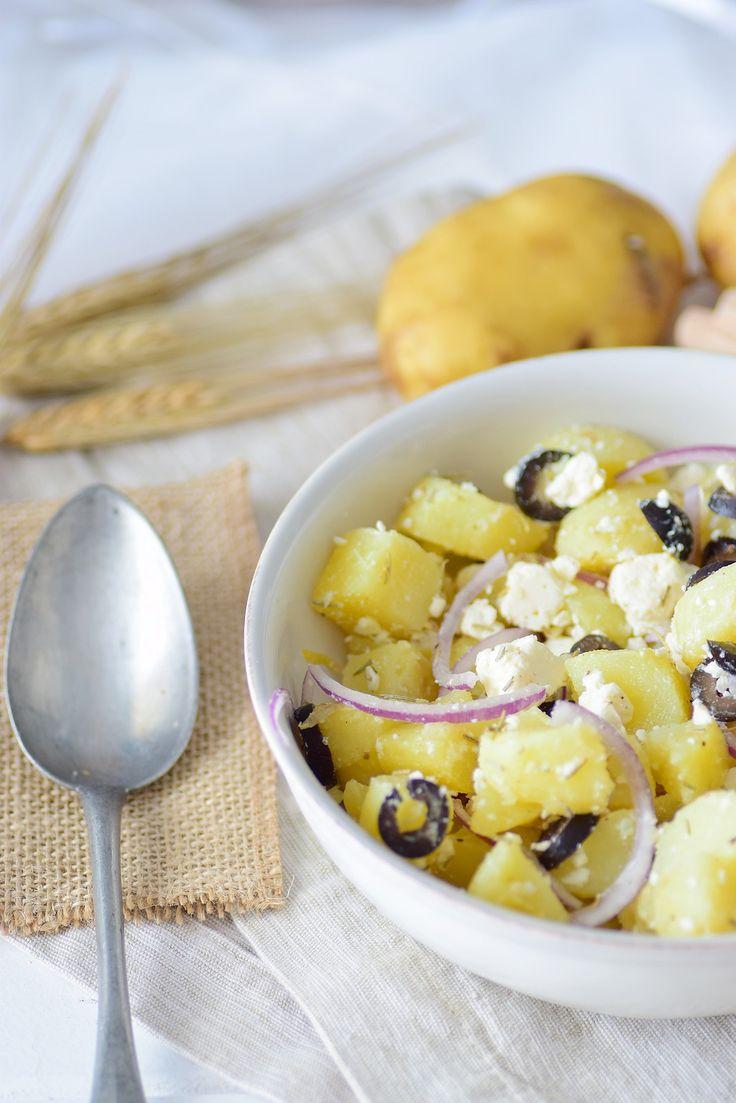 Salade de pomme de terre primeur à la grecque