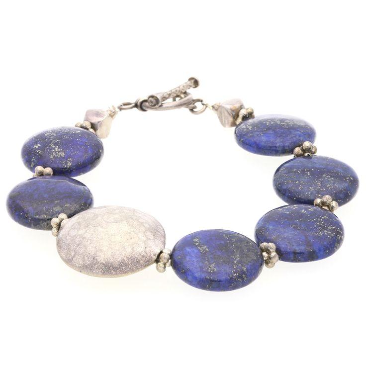 Silver and Lapis Bracelet For Sale by Uwe Koetter.    www.uwekoetter.com