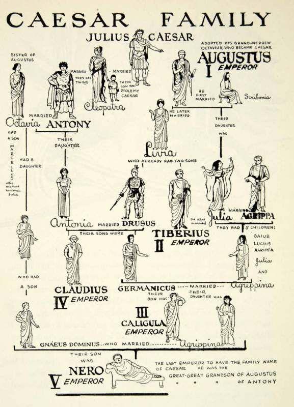 Gajus Julius Cezar family tree