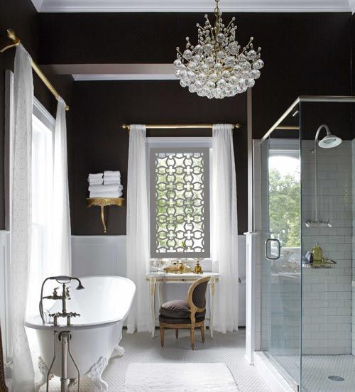 'Apia' as it would look if installed as a window in a modern Victorian bathroom.