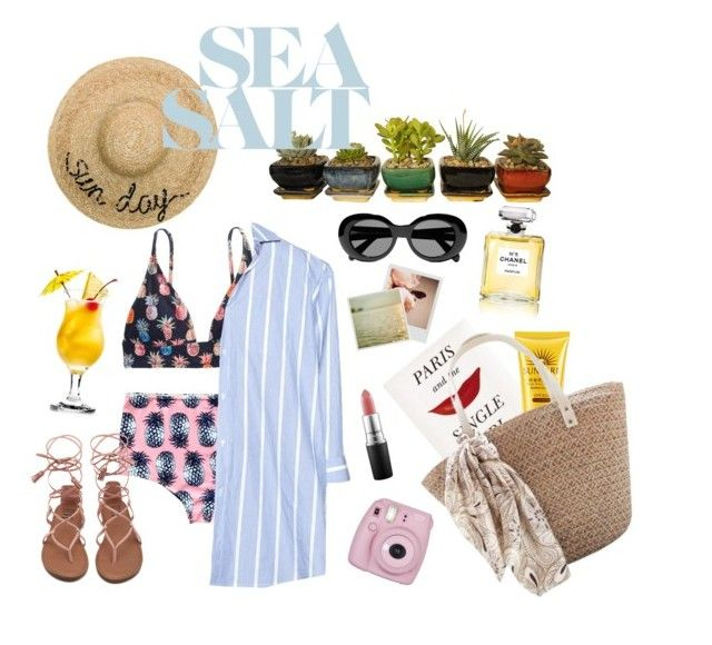 sunkissed vitamin sea❤️ by srsstreetcouture on Polyvore featuring polyvore, fashion, style, Vetements, J.Crew, Eugenia Kim, Acne Studios, MAC Cosmetics, Kate Spade, Pottery Barn, Polaroid, Fujifilm, Chanel and clothing