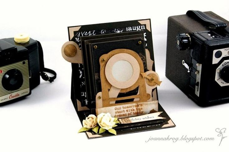 An old camera easel card by jkrog - Cards and Paper Crafts at Splitcoaststampers