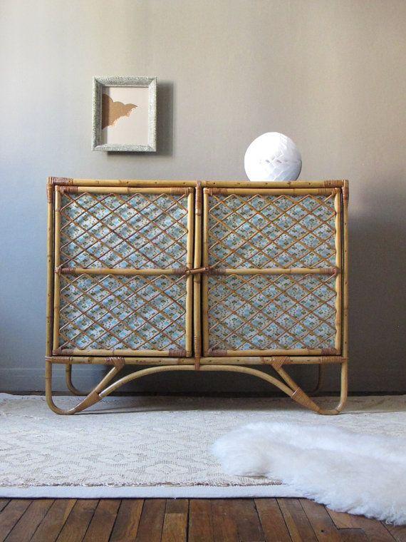 17 meilleures images propos de mobilier rotin vintage pour enfant et b b sur pinterest for Armoire en rotin bambou