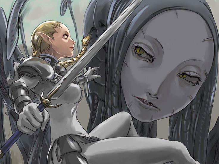 Ophelia-vs-Awekened-claymore-anime-and-manga