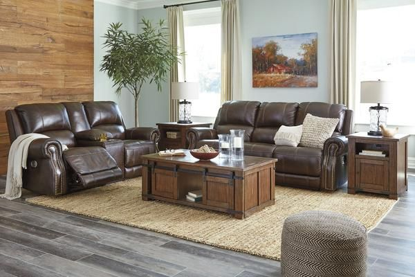 Aaron Power Leather Sofa Loveseat Power Reclining Sofa Power